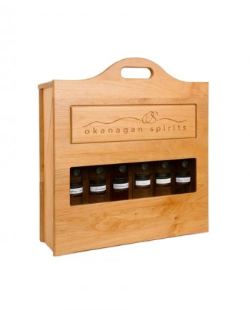 Okanagan Spirits Wooden Serving Case