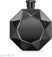 6 oz High Gloss Black Diamond Flask